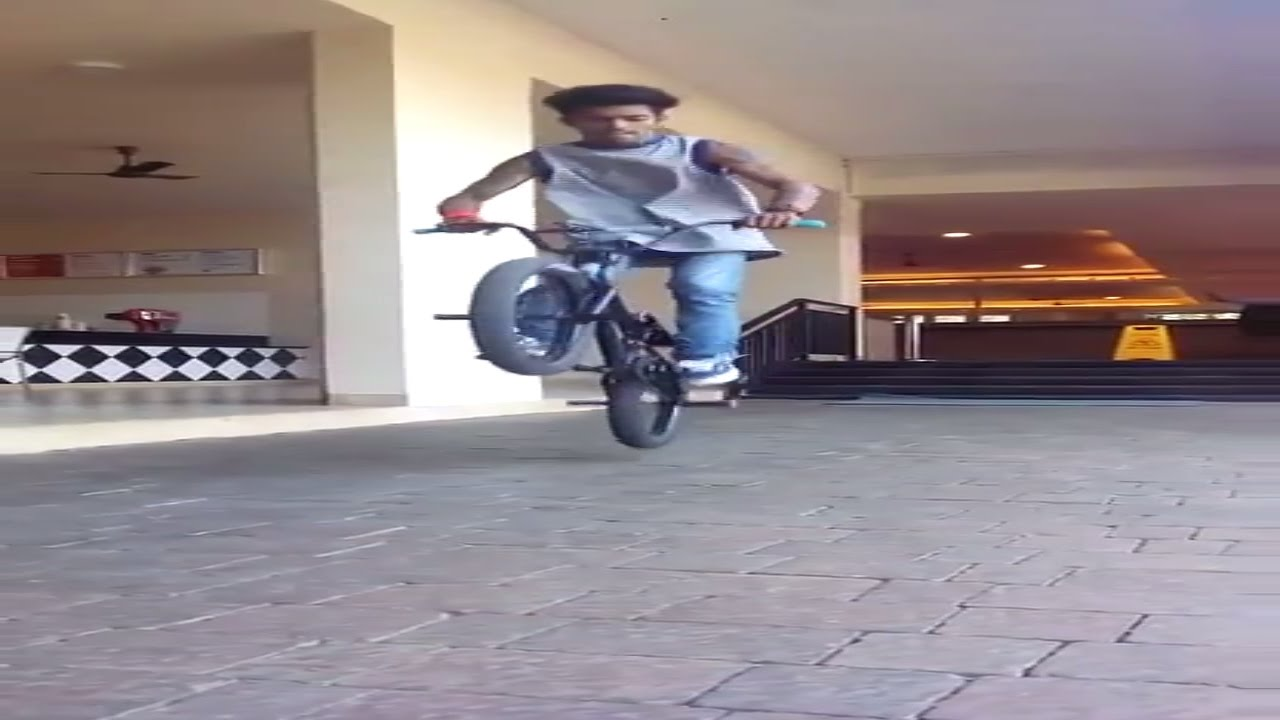 BMX -Team8e-bunny hop bar spin by pravin habib