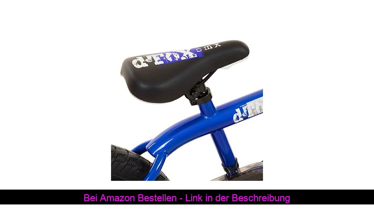 ❄️ DETOX 20 Zoll BMX Big Shaggy Spoked 8 Auswahl + 4 Pegs inkl, Farbe:Blau/Schwarz