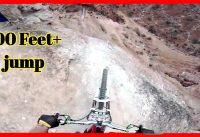 Dangerous 100 Feer+ High Jump By Mountain Bike || mtb downhill