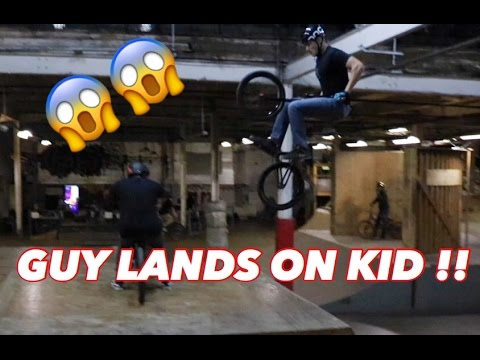 GUY LANDS ON KID! BMX VLOG