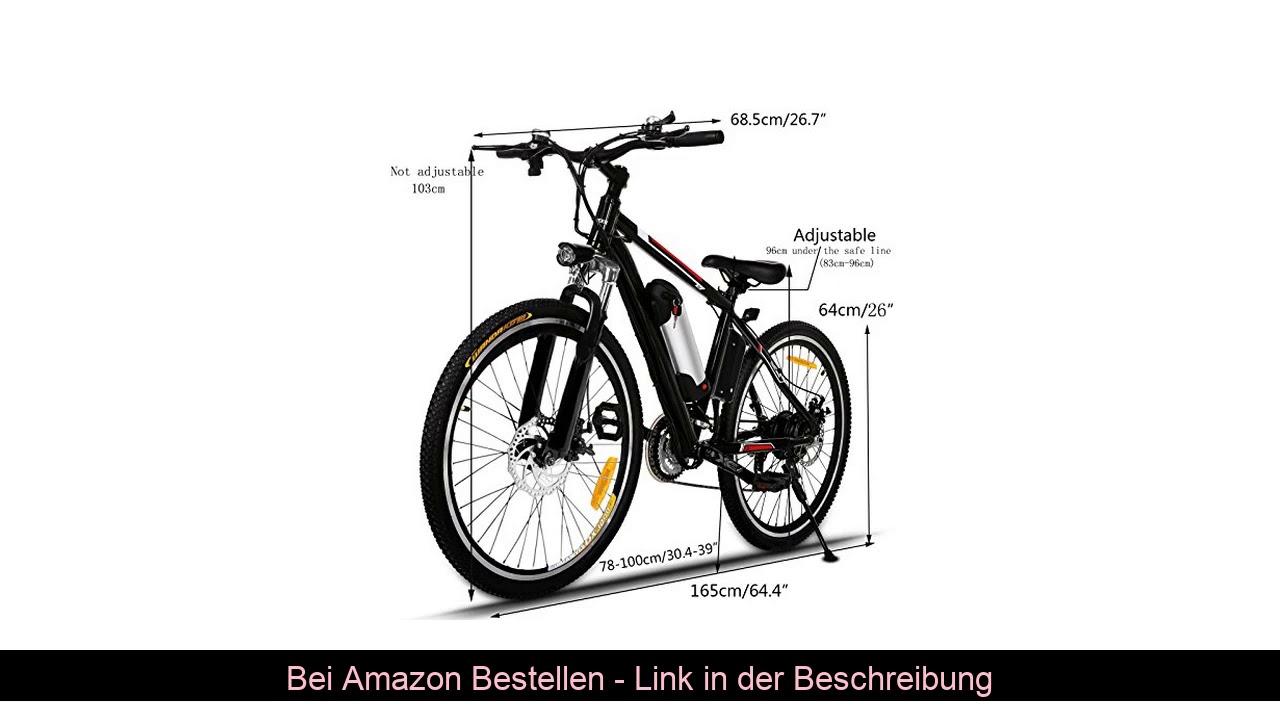 ⚡️ Hiriyt Faltbares E-Bike,36V 250W Elektrofahrräder, 8A Lithium Batterie Mountainbike,26 Zoll Groß