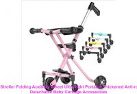Infant Stroller Folding Auxiliary Wheel Ultra-light Portable Thickened Anti-rollover Detachable Bab