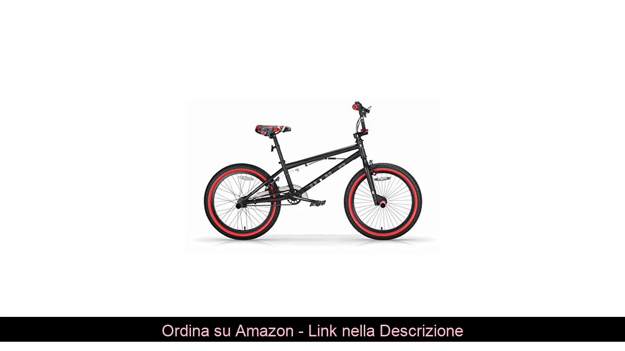 "❎ MBM BMX U-N+O, Bici da Freestyle Unisex Bambini, Nero A01, 20"""