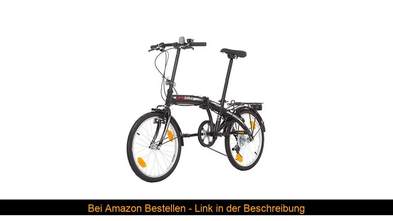 ⭐️ Multibrand PROBIKE Folding 20 Zoll Klapprad, Faltrad, Shimano 6 Gang, Herren-Fahrrad & Jungen-Fa
