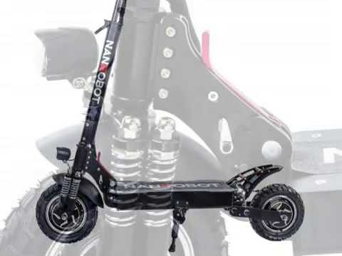 NANROBOT D4+ 2 0 Strong Power Foldable Adult Electric Scooter, 2000W Power Motor, 40 45 Mile Range
