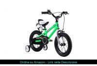 """✅ R-30,48 cm (12"""")""""BMX Freestyle per Bici per Bambini, Colore: Rosso, Verde, Blu e Bianco, con rote"""