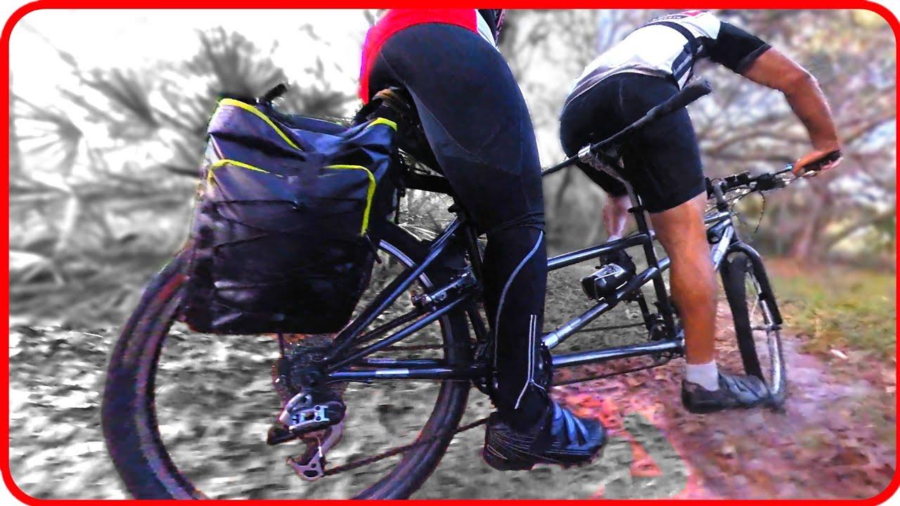 Tandem Mountain Biking: We Send It MTB Style on the Tandem Bike at Markham Woods Mountain Bike Trail
