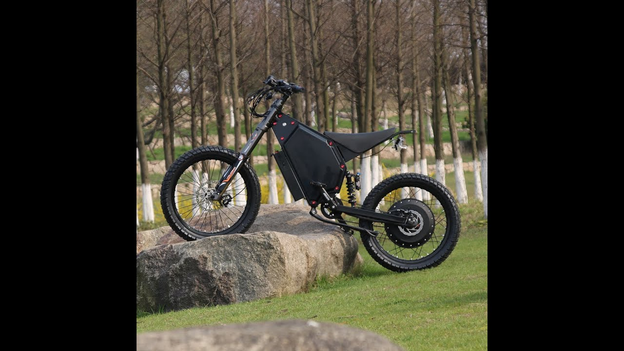 The electric bike is powerful, fast and energy-efficient.
