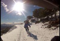 BMX snowboard. GoPro!