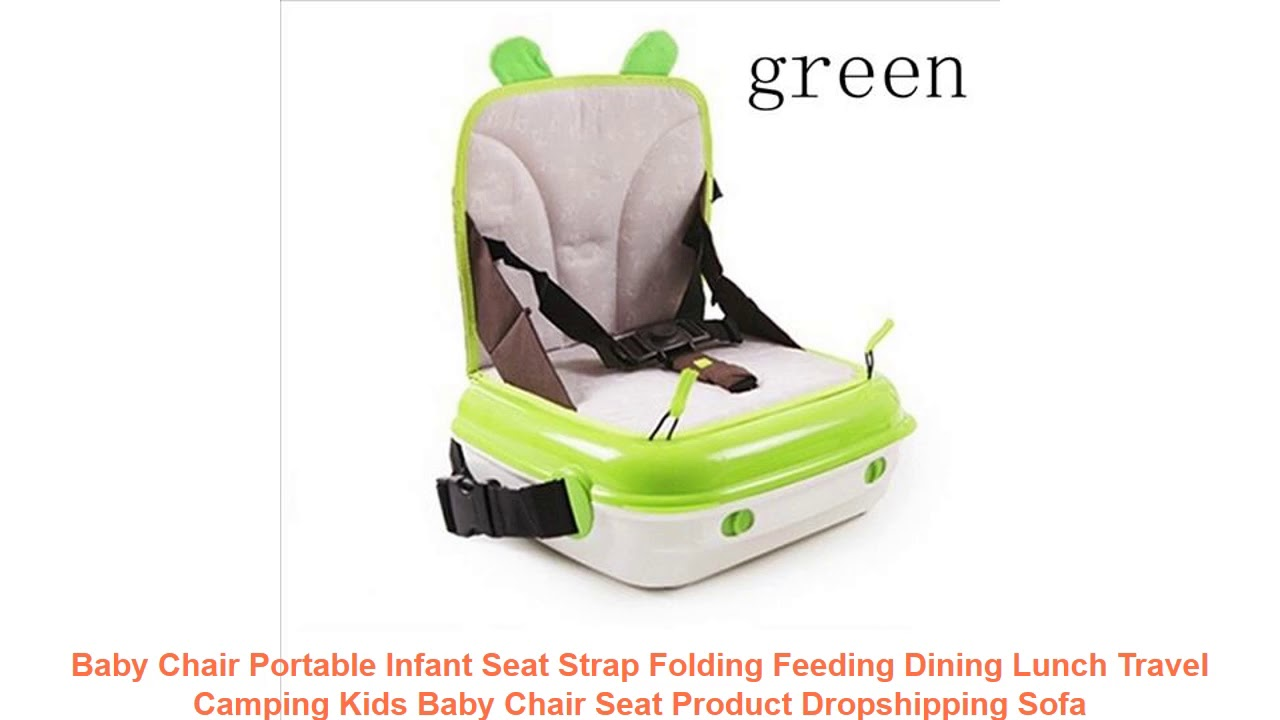 Baby Chair Portable Infant Seat Strap Folding Feeding Dining Lunch Travel Camping Kids Baby Chair S
