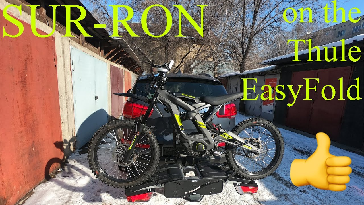 Best rack for electric bike! SUR-RON on the Thule EasyFold XT 2.