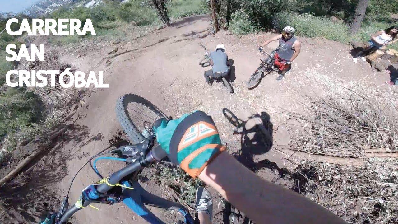 Carrera de Mountain Bike y Caídas en el Cerro San Cristóbal, Chile!