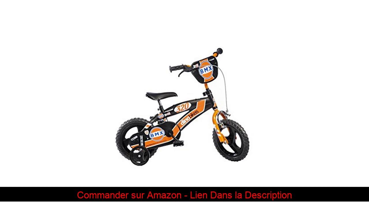 ☘️ Dinobikes Dino Bikes BMX Garçon Marque 12 Pouces de 3 à 5 Ans, 125XL