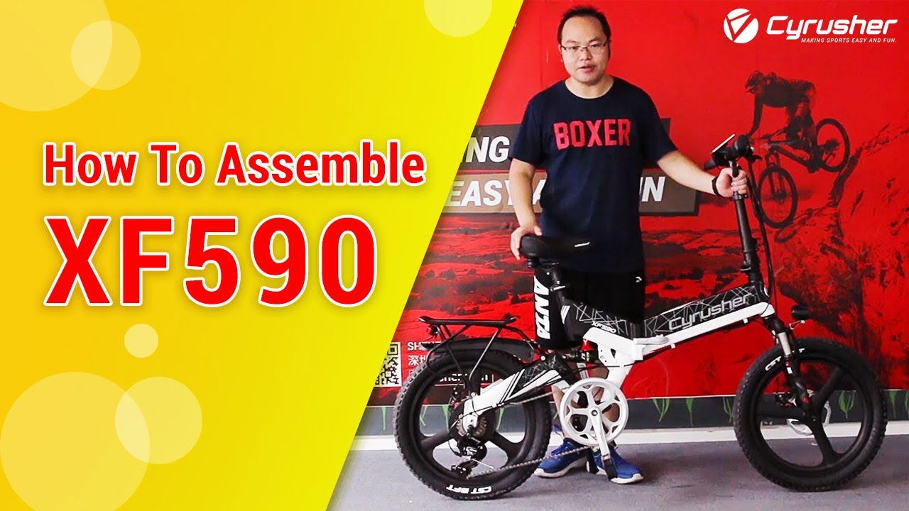 How to Assemble Folding Electric Bike in 15 Minutes |  Cyrusher XF590 Folding City Ebike