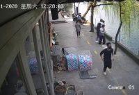 Liveleak com   Pub Owner Saves Boy After Bike Crashes Into River