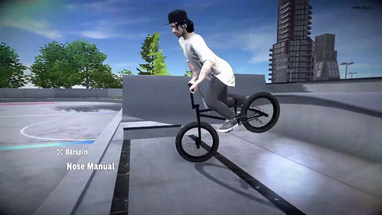 PIPE BY BMX STREETS - COMMUNITY CENTER NEEDS A MOD ON PS4!!! RARE FOOTAGE #1