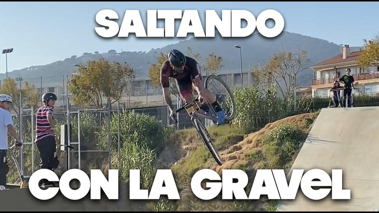 SALTO en BICI GRAVEL 😬| Valentí Sanjuan