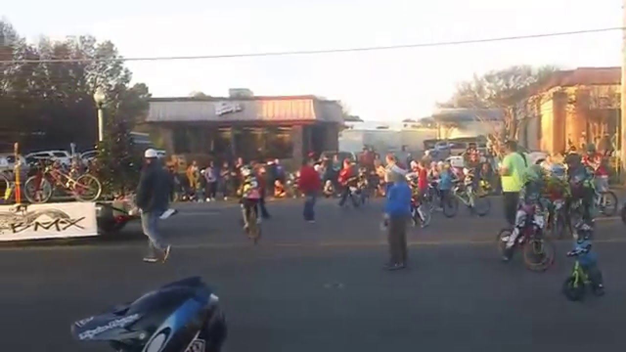 Shelby Farms BMX Float and riders — Bartlett, Tenn. 2015 Christmas Parade