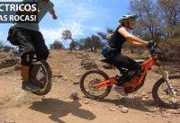 Vehículos Eléctricos en Senderos Difíciles! Monociclo Eléctrico y Sur-Ron Electric Bike!