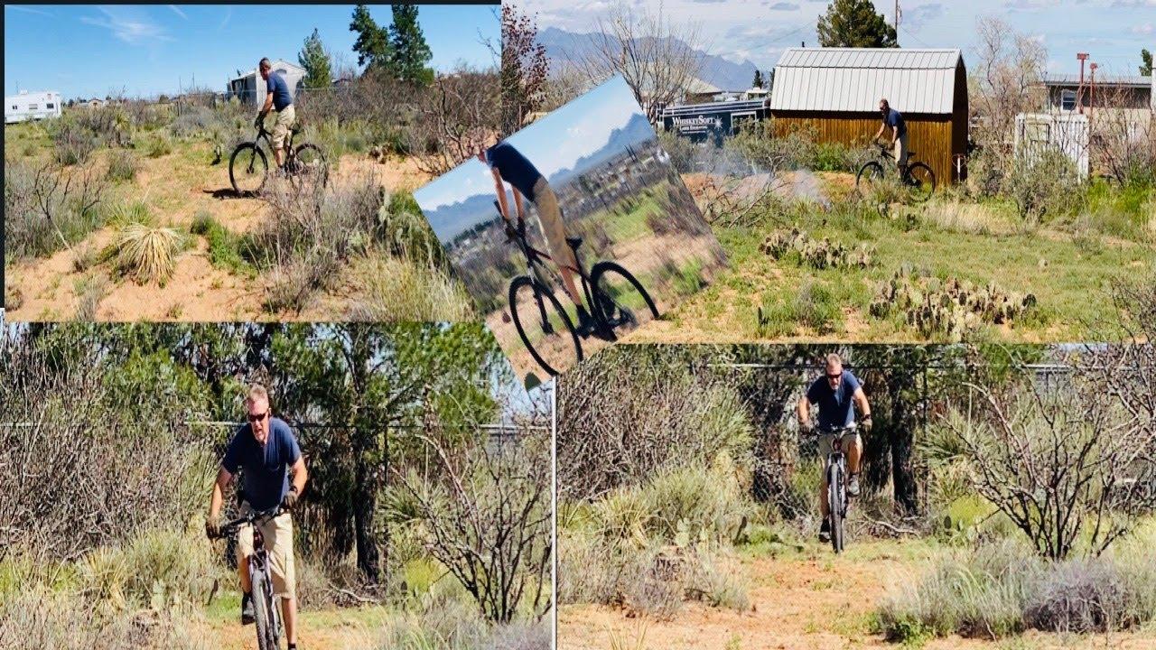 #backyardfun #mountainbike #NewMexicoUSA Backyard Bike Track Project Part #3 [take 2 :)]
