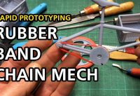 3D Printed Chain Mechanism Test | BMX Toy Sculpture