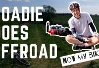 A road biker goes mountain biking.. NOT MY BIKE!!
