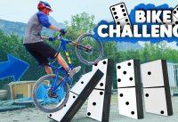 BIKE PARKOUR CHALLENGE  | Slackline et Domino