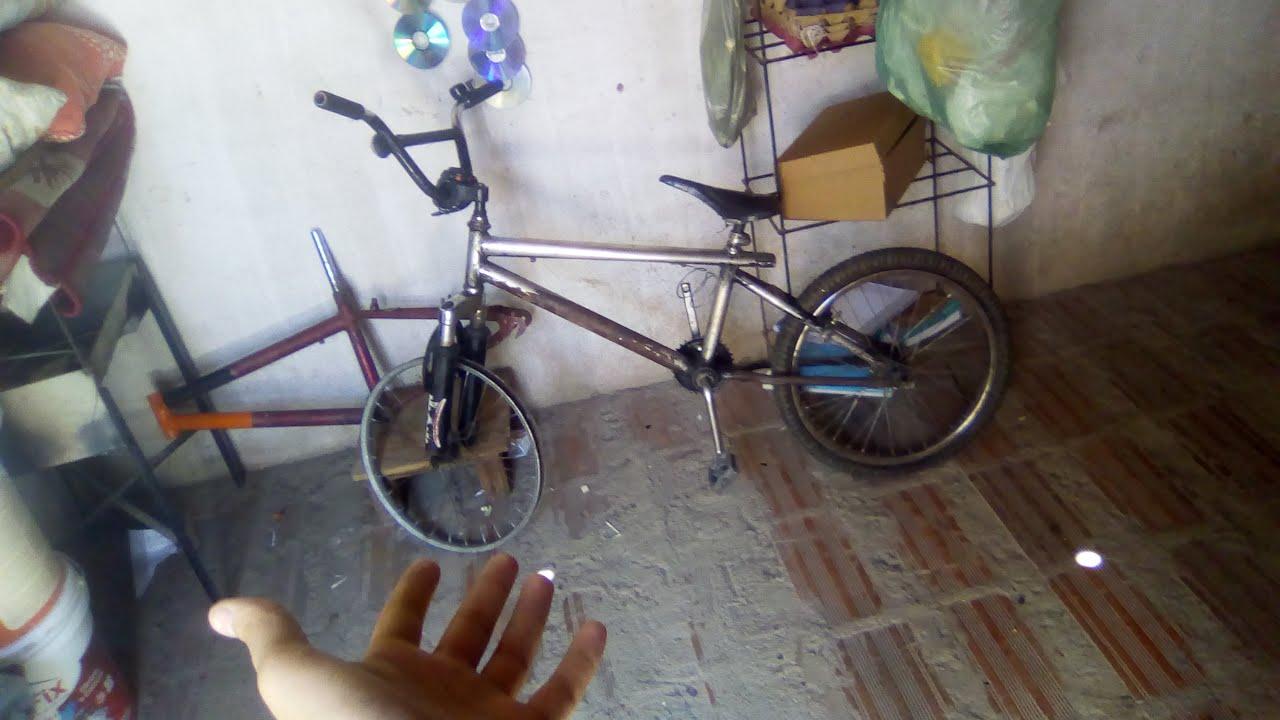 Consegui uma BMX com amortecedor dianteiro