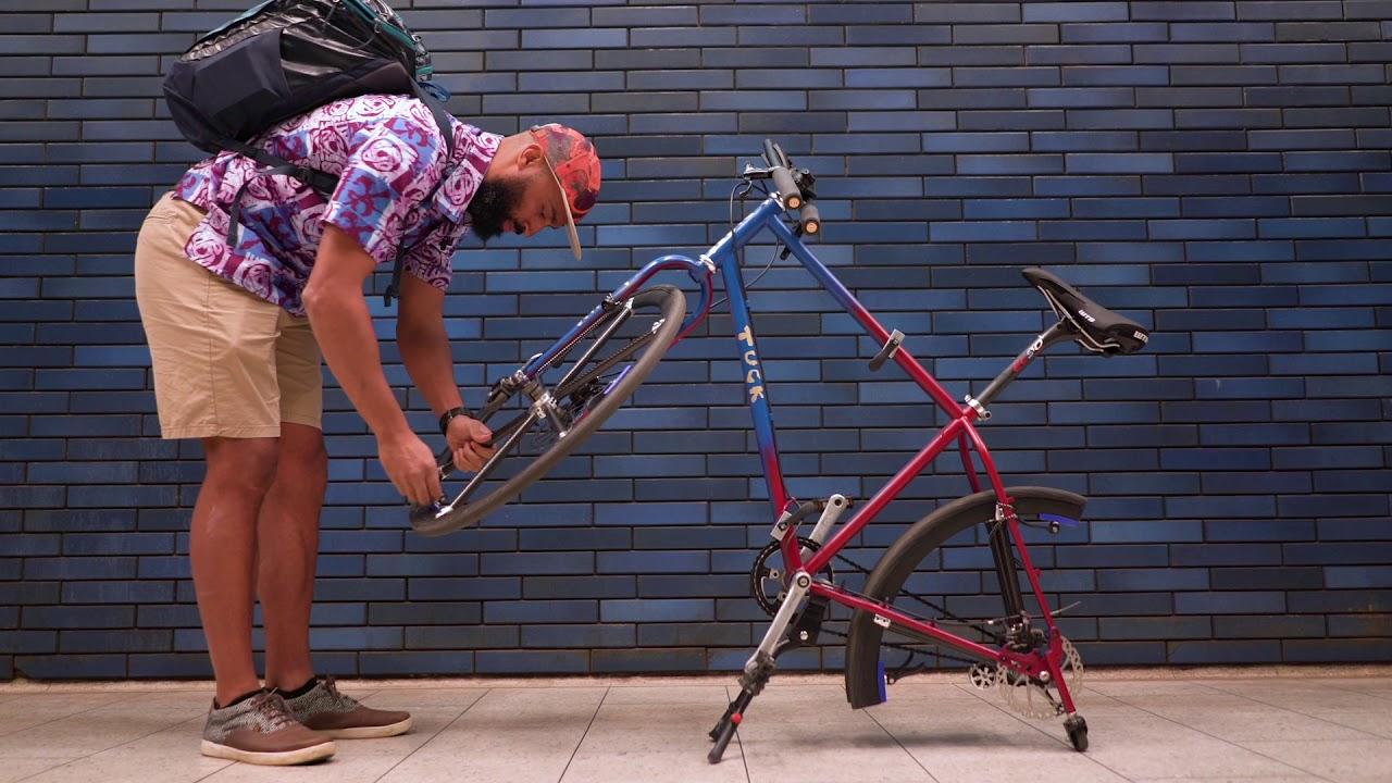 Folding the Tuck Bike and its Folding Wheel