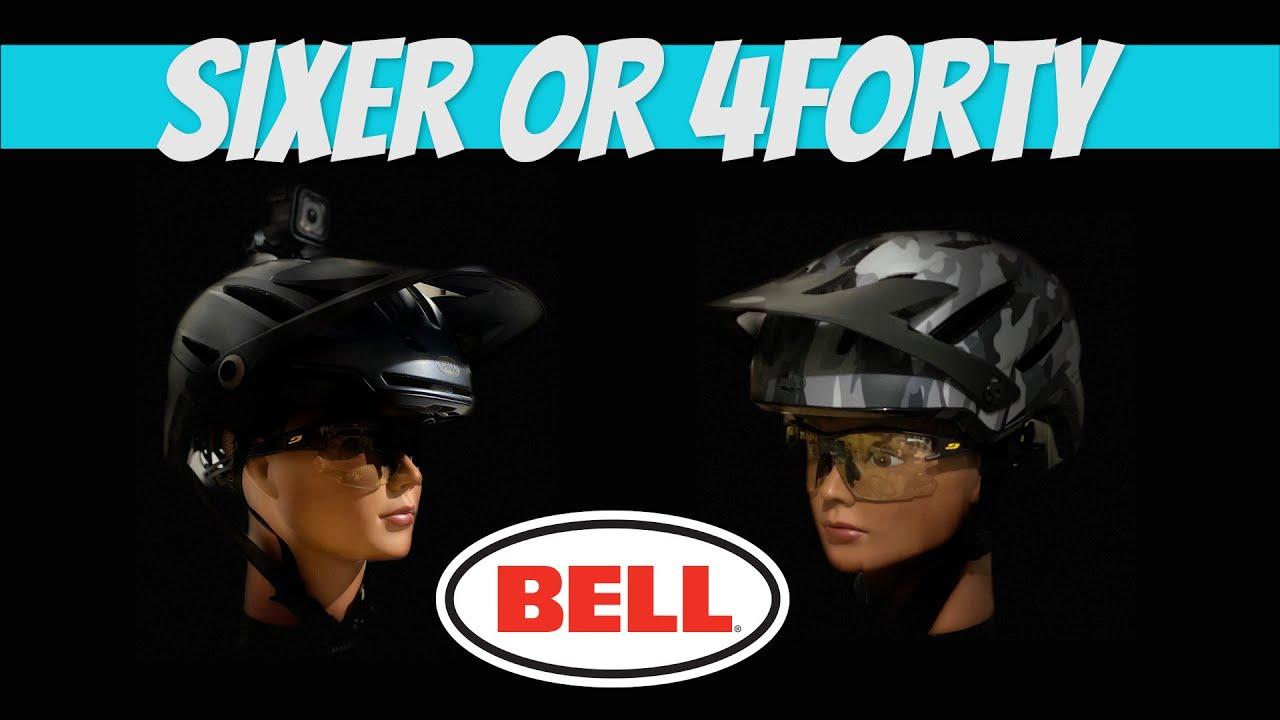 MTB Plan B - Mountain bike helmet comparison:  Bell Sixer vs 4forty
