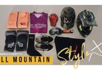 Safety gear MTB trail bike All mountain Enduro EWS TLD Halfface knee FOX Launch Glove LEATT fullface