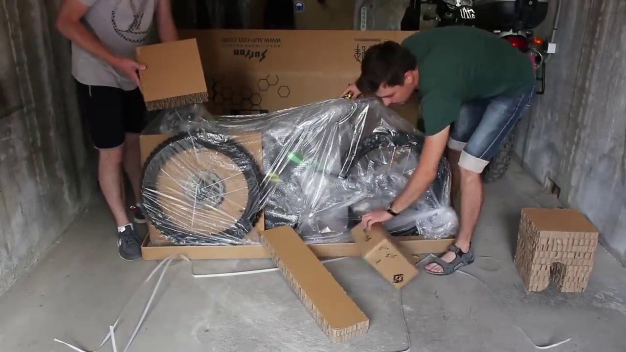 Unboxing electric bike#