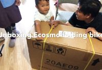 "Unboxing of Ecosmo folding bike with 20"" wheel."