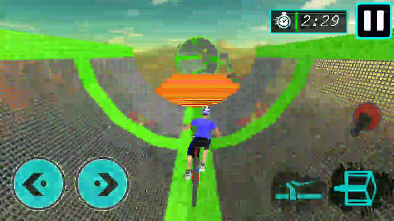 cycle running games roud bike vs mountain bike speed #0933