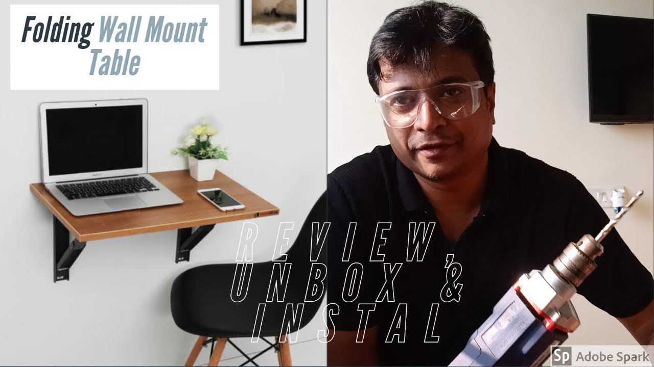Folding Wall Mount Table | Pepperfry | DIY | install it yourself
