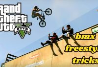 GTAV BMX#2 EPIC FREESTYLE TRICKS MONTAGE! (Grinds-baradillas-transfers-wallride)