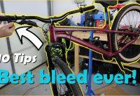 #MTBPlanB Ten tips for epic hydraulic brake bleed on a mountain bike.