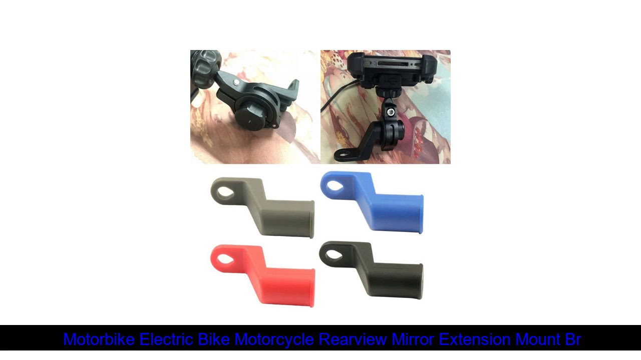Motorbike Electric Bike Motorcycle Rearview Mirror Extension Mount Bracket Holder for Mobile Phone