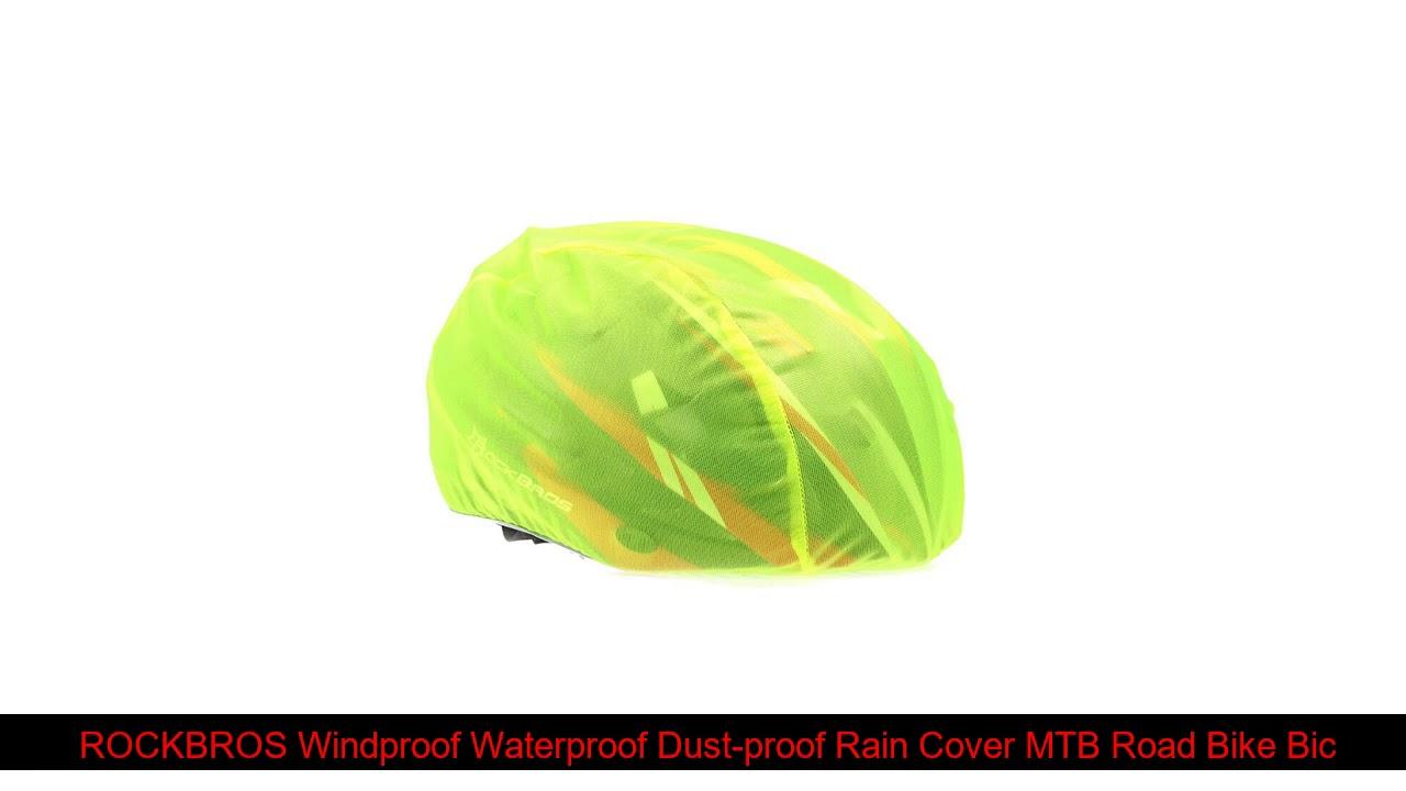 ROCKBROS Windproof Waterproof Dust-proof Rain Cover MTB Road Bike Bicycle Helmet Cover Cycling Hel
