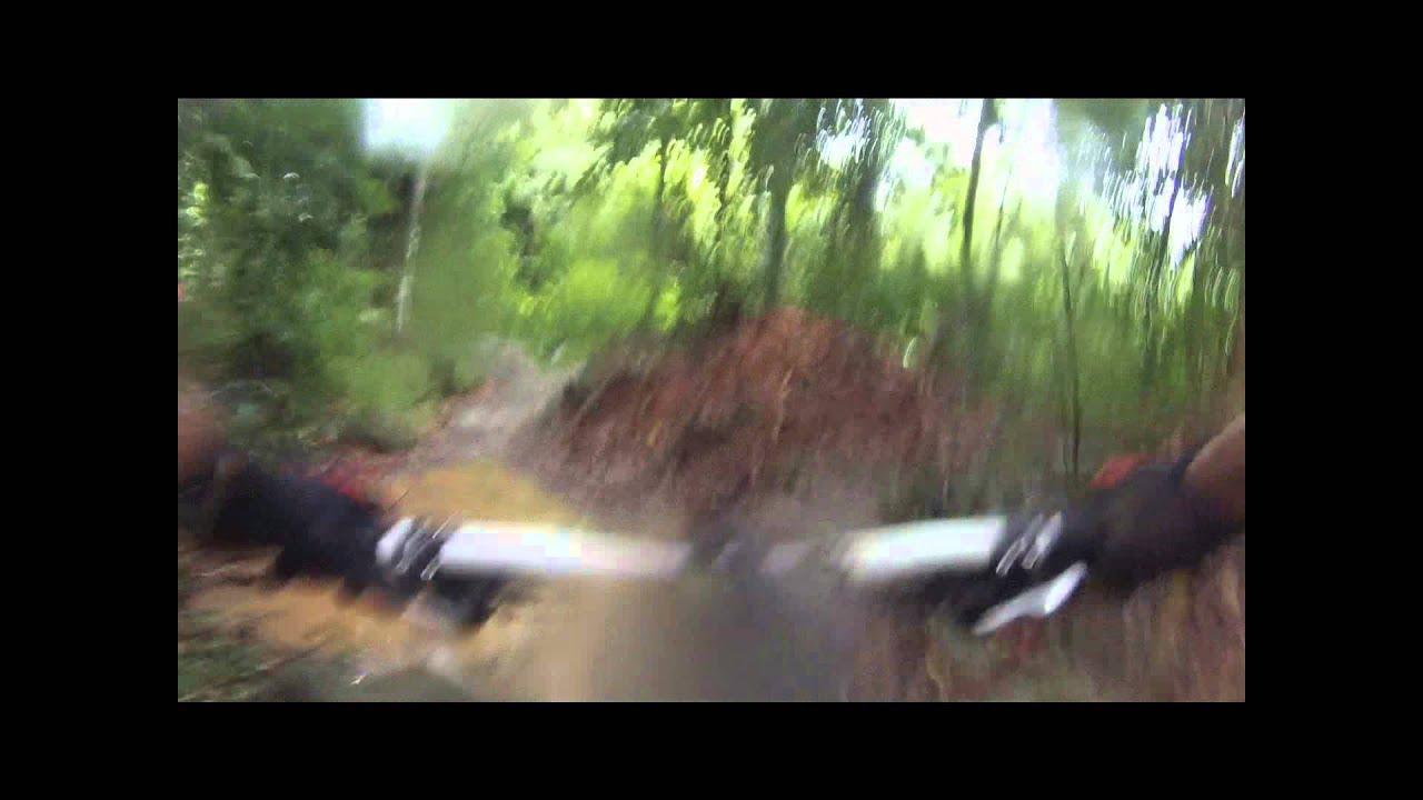 Rain ride at Ketam Mountain Bike Trail , Singapore