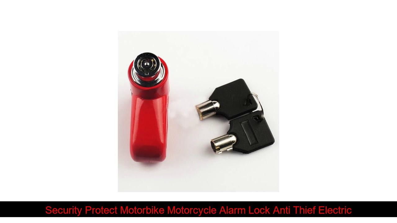 Security Protect Motorbike Motorcycle Alarm Lock Anti Thief Electric Bike Scooter Wheel Disc Brake
