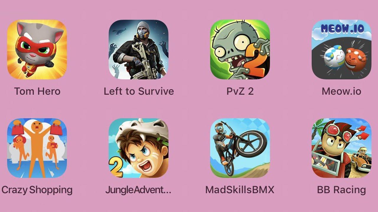 TomHero,LefttoSurvive,PvZ2,Meow.io,CrazyShopping,JungleAdventure2,MadSkillsBMX,BBRacing