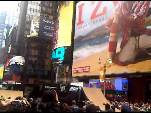 BMX event in Times Square