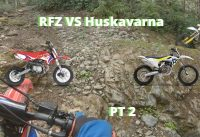 Does a Chinese Pit Bike Keep Up With Brand Name Bikes On Trails? 125CC vs 350CC   PT 2