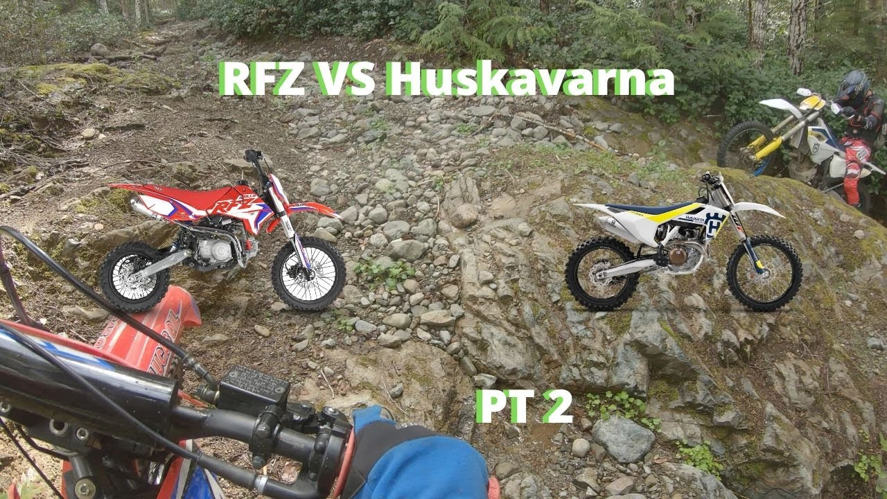 Does a Chinese Pit Bike Keep Up With Brand Name Bikes On Trails? 125CC vs 350CC | PT 2
