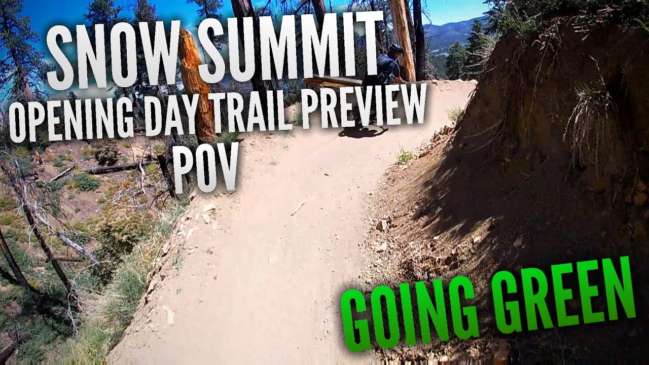 Going Green POV (BEST Beginner Trail at Snow Summit | Snow Summit Opening Day 2020