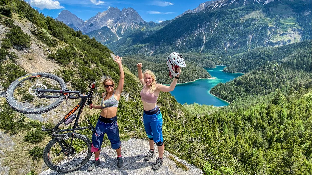 MOUNTAINBIKE HIGHLIGHT IN DER TIROLER ZUGSPITZ ARENA / BLINDSEE TRAIL / CRAZY BIKE GIRLS 2020 / MTB