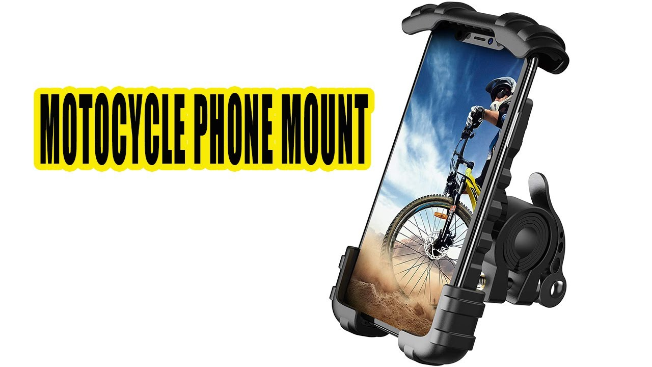 Motocycle phone mount Phone Holder Mount for Bike Handlebar - Lamicall Motocycle Cell Phone Clamp