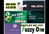 New AirDrop Exchange Listed REL 0.5 ETH,200 BMX,2$ SIROT Token,117$ FLX ,5$ LIBOPAY,1000 FLEX,No KYC