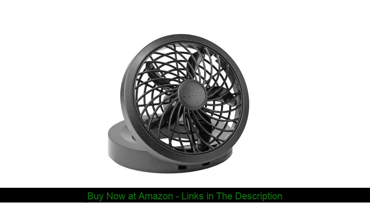 "☑️ O2 Cool 1123 Folding Portable USB or Electric Fan, 5"", 1 Speed (Assorted color)"